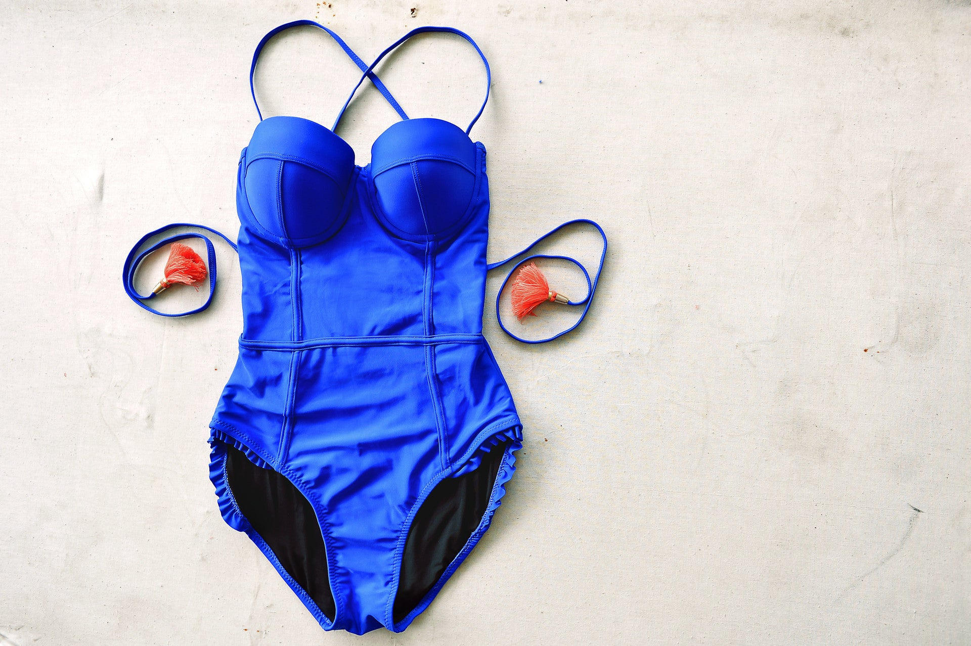 AUDREY swimsuit in ROYAL BLUE - HJF - HAPPYJIGGLYFEET