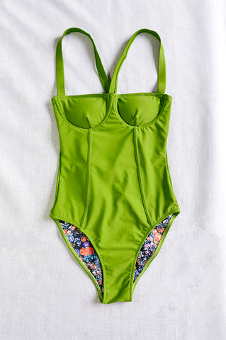 MOLLY EMERALD onepiece swimsuit - HJF - HAPPYJIGGLYFEET
