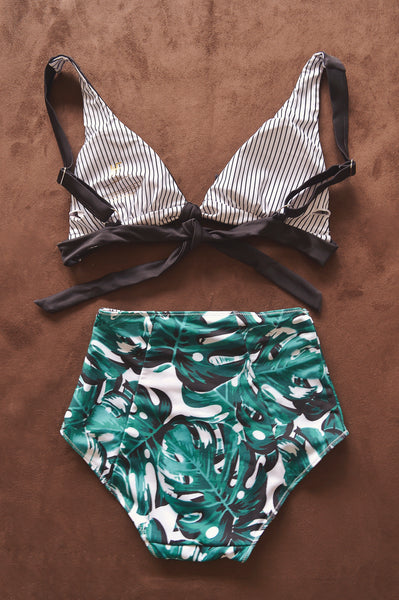 KELLY bikini in TROPICAL PALMS (AS IS) - HJF - HAPPYJIGGLYFEET