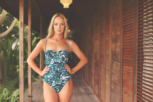 UMA onepice swimsuit in TROPICAL PALMS - HJF - HAPPYJIGGLYFEET
