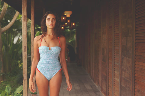 UMA onepiece swimsuit in PETAL BLUES - HJF - HAPPYJIGGLYFEET