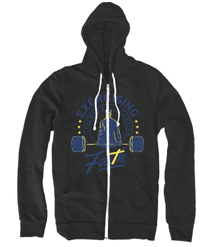 Lightweight Zip up hoodie, Hoodie - EXERCISING FAITH