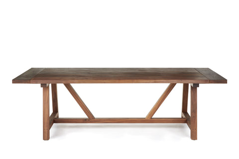 Farmhouse Trestle Dining Table, Solid Walnut