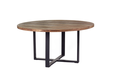 Industrial Modern Round Dining Table