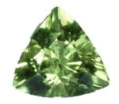 Demantoid Garnet -0.5 cts - Trillion Cut - Namibia Stone
