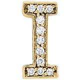 Yellow Gold Diamond Initials Pendant