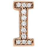 Rose Gold Diamond Initials Pendant