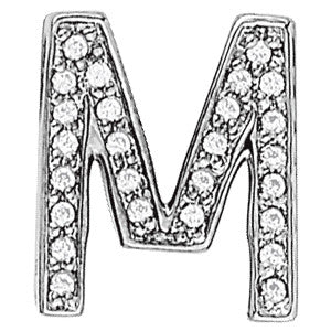 White Gold Diamond Initials Pendant
