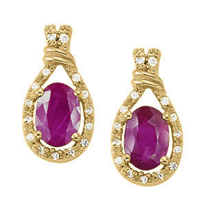 Ruby Earrings - 41020
