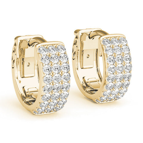 Diamond Hoop Earrings - (.25 CTS) - 40975