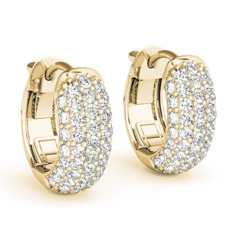 Diamond Hoop Earrings - (.37 CTS) -  40978