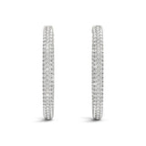 Diamond Hoop Earrings - (1 CTS) - 41023-.005-38MM