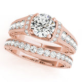 Rose Gold Antique Diamond Engagement Ring