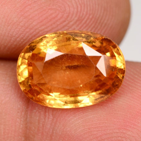 Imperial Orange Hessonite Garnet - Oval Cut - 7.8 Cts
