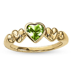 Yellow Gold Peridot Solitaire Ring