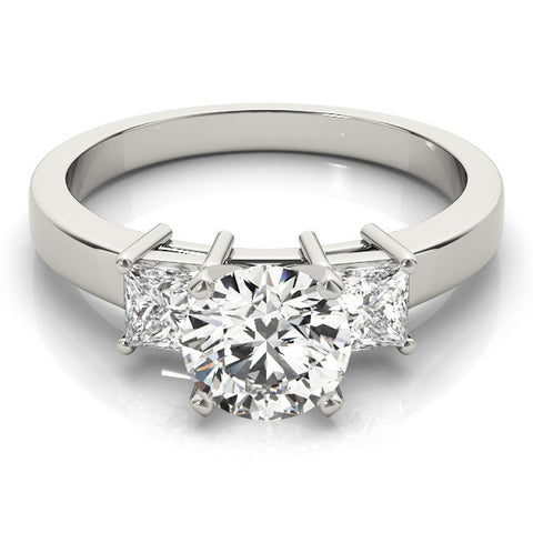 White Gold 3 Stone Diamond Engagement Ring