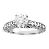 Platinum Antique Diamond Engagement Ring