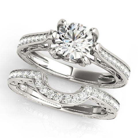 White Gold Antique Diamond Engagement Ring