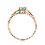 Rose Gold Aquamarine Solitaire Ring