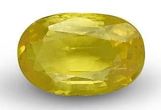 Yellow Sapphire - Oval Cut - 6x4mm - 0.65 Cts