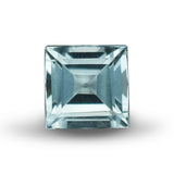 Platinum Aquamarine Ring with Sidestones