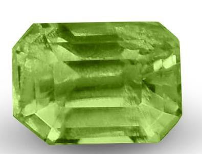Demantoid Garnet (Fine Grade)- Emerald Cut -6x4mm - 0.7 Cts