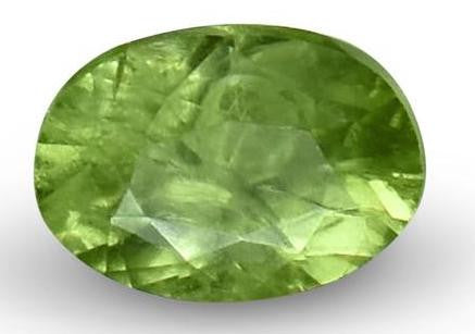 Demantoid Garnet - Oval Cut - 6x4mm - 0.7 Cts