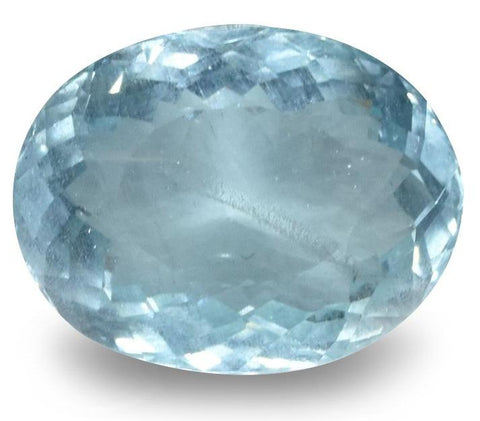 Aquamarine - 7.10 Cts - Oval Cut - Untreated - Brazilian Stone