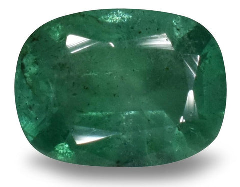 Emerald - 0.96 Cts - Cushion Cut - Zambian Stone