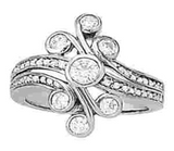 Multi-stone Diamond Ring (1 cts) - 82707