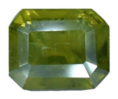 Demantoid Garnet -1.3 cts - Emerald Cut - Namibia Stone