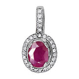 Platinum Ruby Pendant with Sidestones