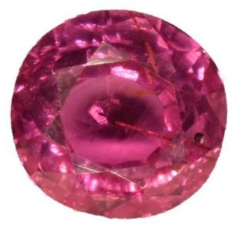Ruby - 0.73 cts - Certified Untreated -Round Brilliant  - Mozambique Stone