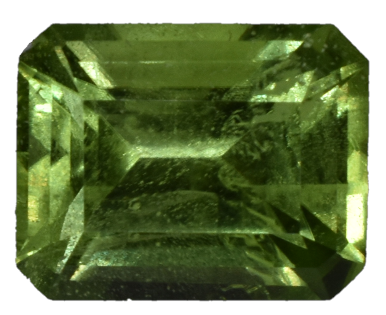 Peridot - 3.55 Cts - Emerald Cut - Pakistan
