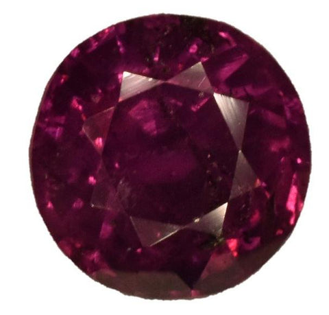 Ruby - 2.21 cts - Certified Untreated - Round Brilliant - Kashmir Stone
