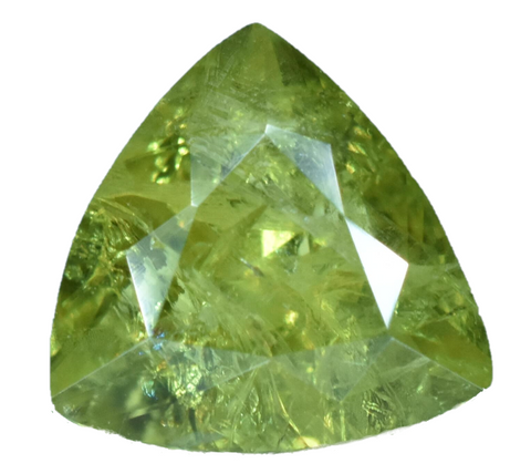 Demantoid Garnet -1.25 cts - Trillion Cut - Namibia Stone