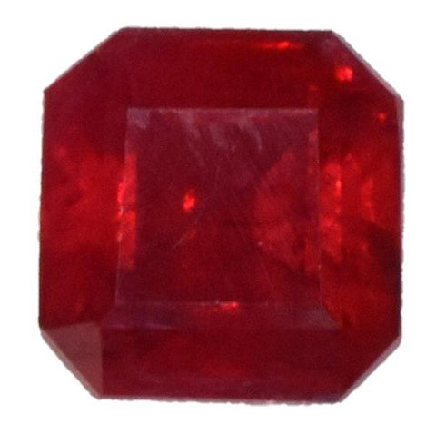 Ruby - 1.72 cts - Certified Heat-Only - Emerald Cut - Mozambique Stone