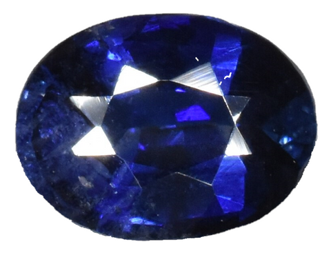 Blue Sapphire -1.07 cts -  Certified Heat Only - Oval Cut - Sri Lankan Stone