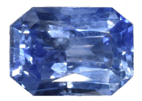 Blue Sapphire -1.02 cts -  Certified Heat Only - Emerald Cut - Sri Lankan Stone