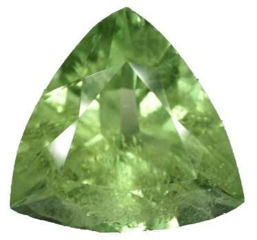 Peridot - 6.90 Cts - Trillion Cut - Pakistan