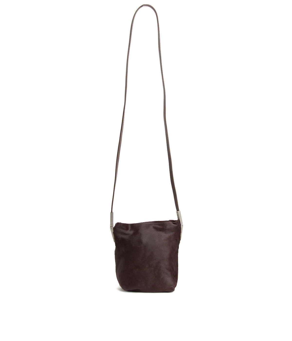 Small Adri Burgundy Calf Fur Crossbody Bag
