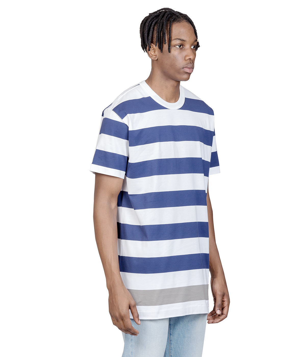 White Striped mastermind feat. A-GIRL'S T-shirt