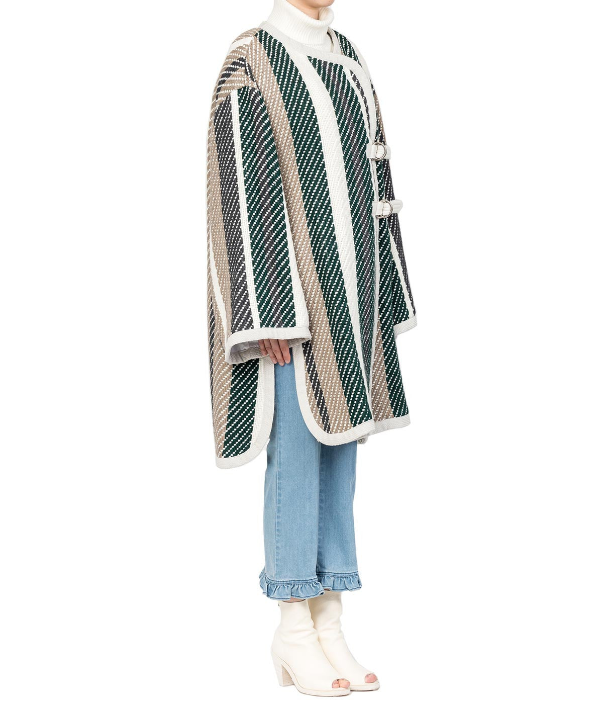Multi-Colour Knitted Overcoat