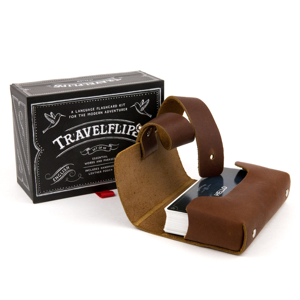 Travelflips Flashcards - Leather Case