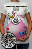 Stork Bundle Shirt with Set of 12 Weekly Belly Tags