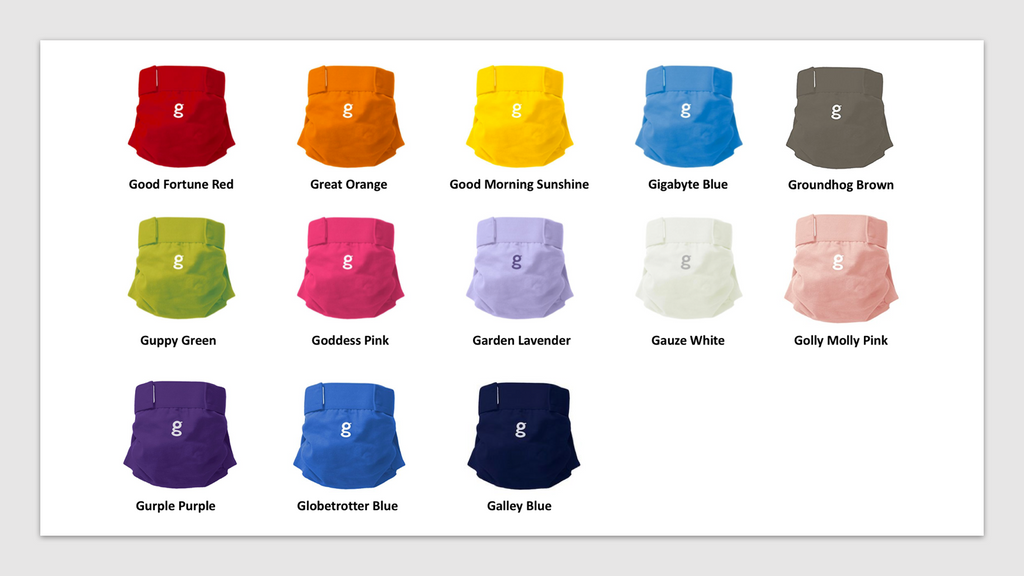 gPants gDiapers Colors