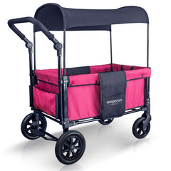 Wonderfold W1 (Multi-Function Twin Stroller Wagon, Push Only) - Fuchsia Pink