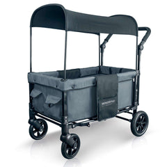 Wonderfold W1 (Multi-Function Twin Stroller Wagon, Push Only) - Smoky Gray-Wagon-The Sensible Mama