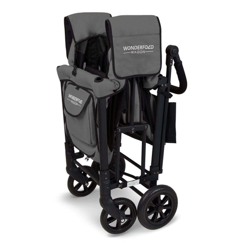 Wonderfold W2 (Multi-Function Twin Stroller Wagon, Push Only) - Smoky Gray-Wagon-The Sensible Mama