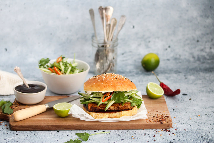 Fragrant & Spicy Tofu Burger